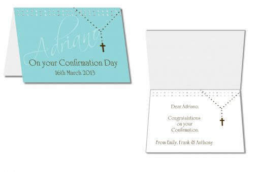 personalised confirmation card