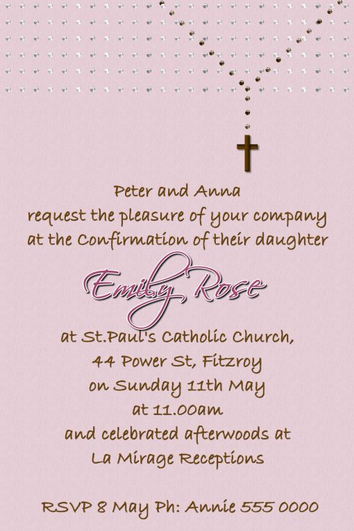 Communion/Confirmation Invitations