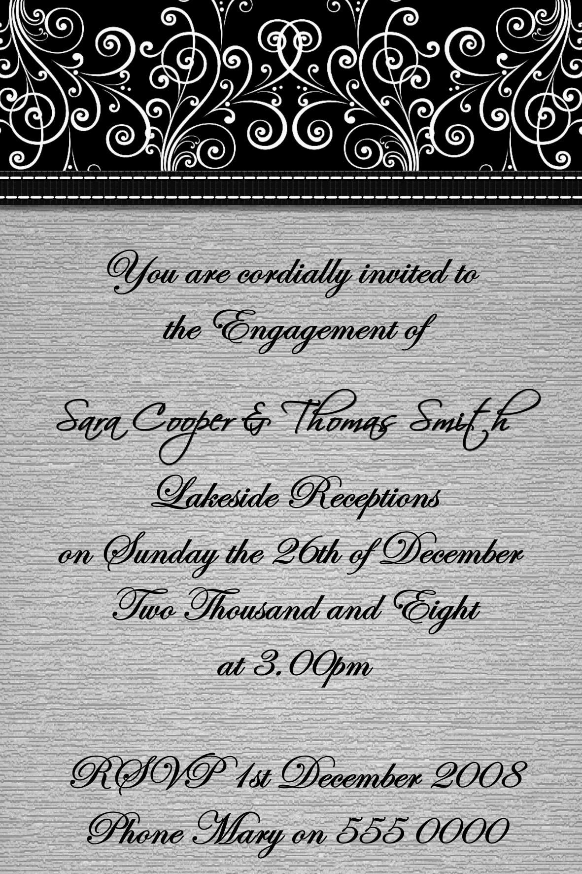 Wedding/Engagement Invitations