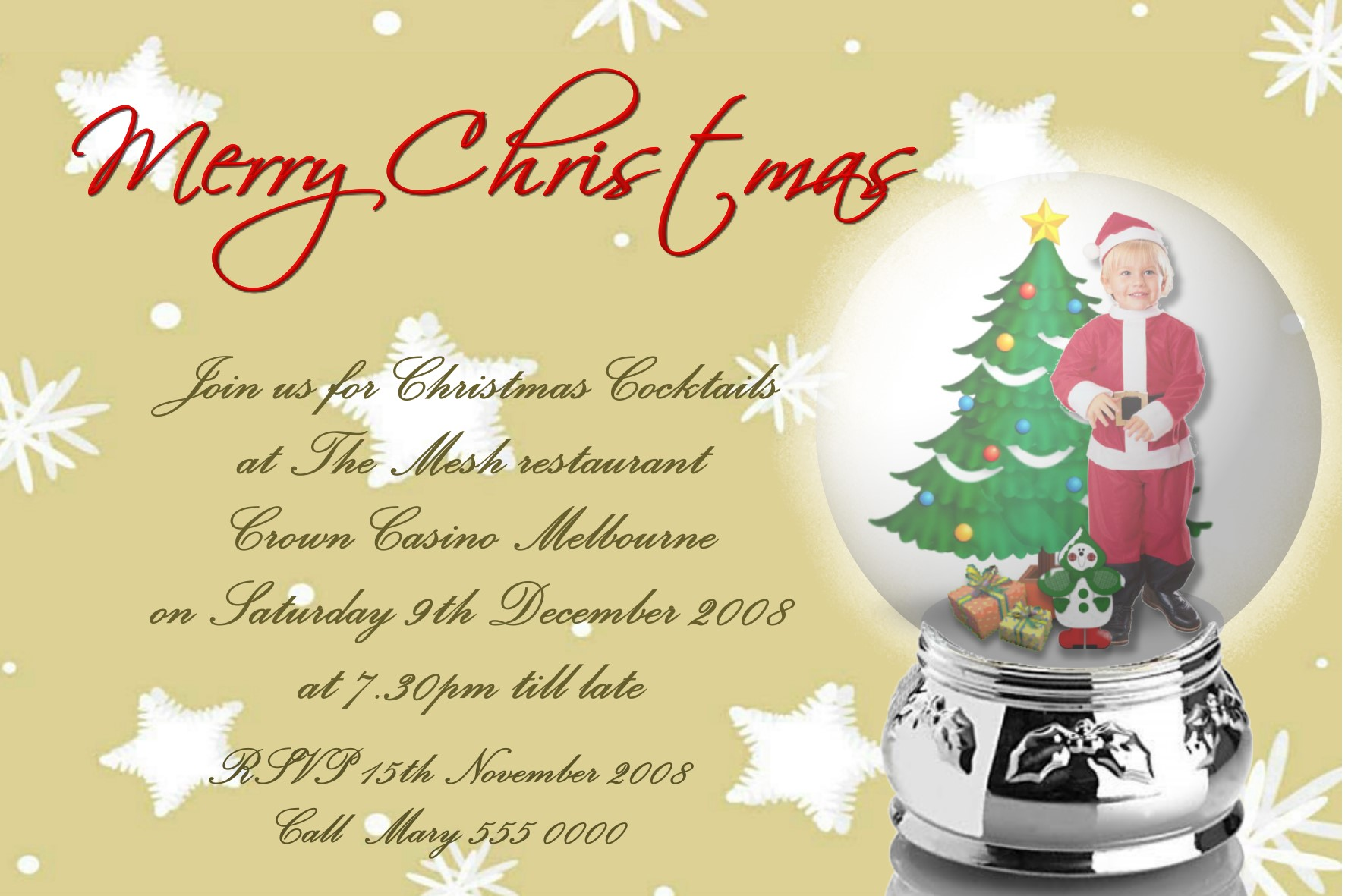 Christmas Cards X22 Funnyshots Party Invitations