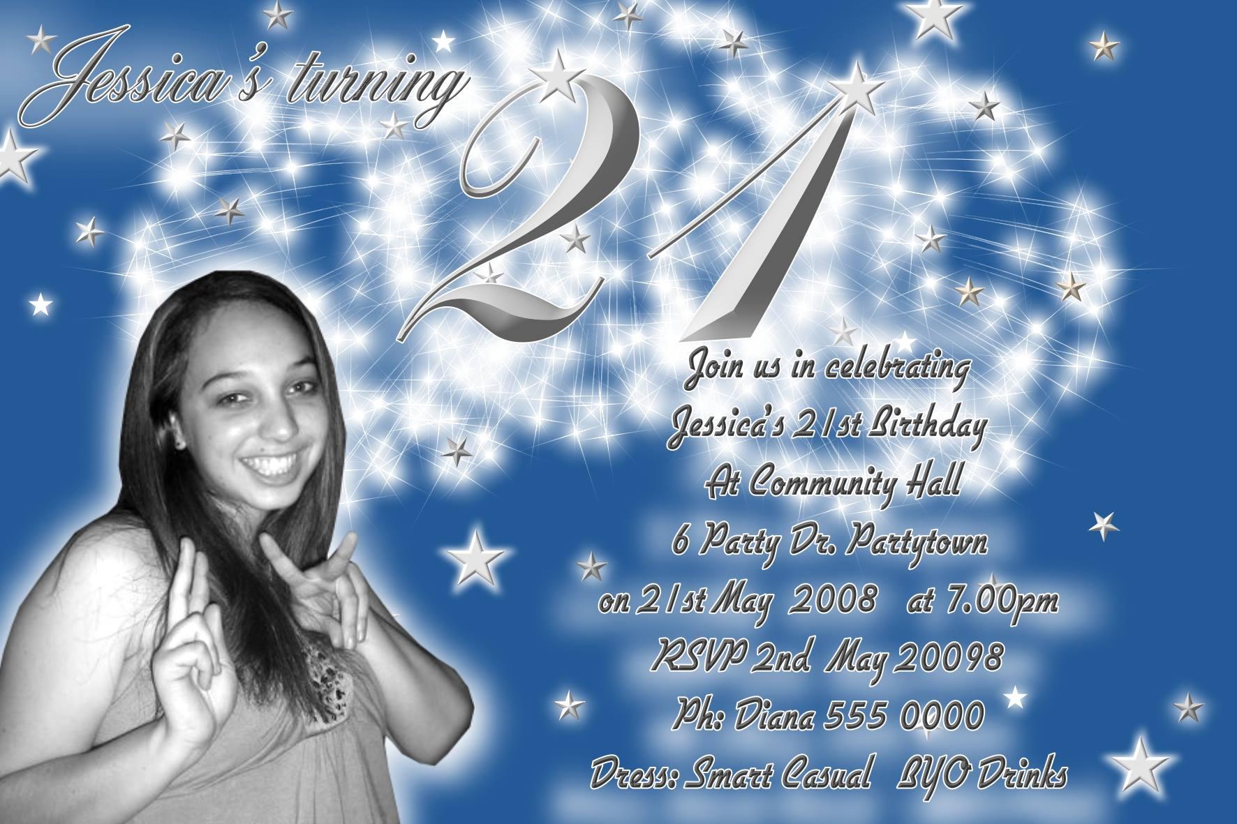 16th 18th 21st 30th 40th 50th 60th 70th 80th birthday invitations