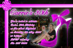 18th 21st 30th 40th 50th 60th Birthday Invitations