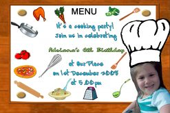 Cooking Invitations
