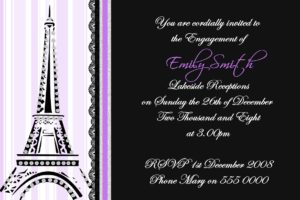 eiffel tower invitations