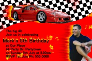 Ferrari Invitations