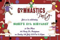 Gymnastics Invitations 01