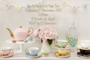 High Tea Invitations