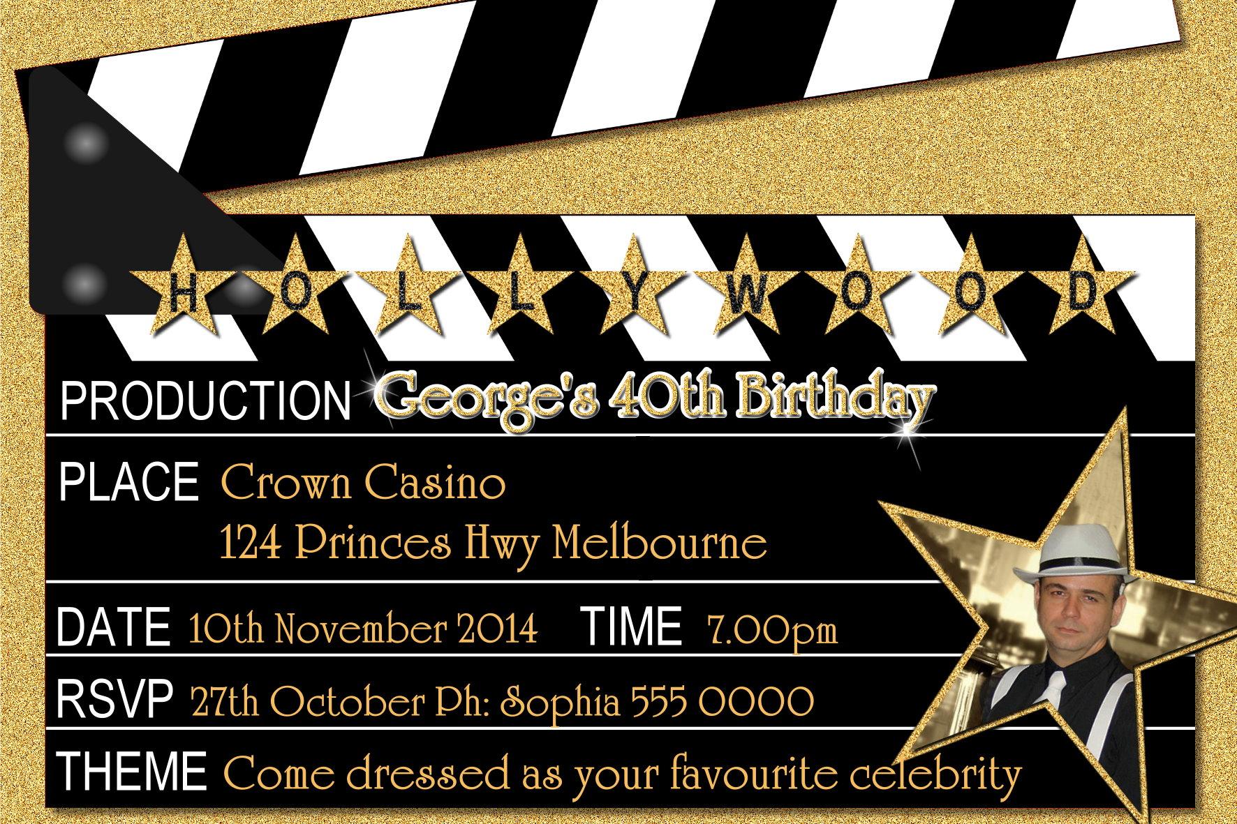 Hollywood Invitations