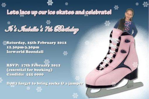 Ice Skating Invitations