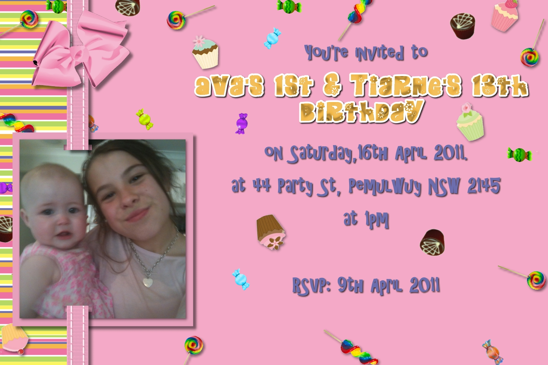 lollypop invitations