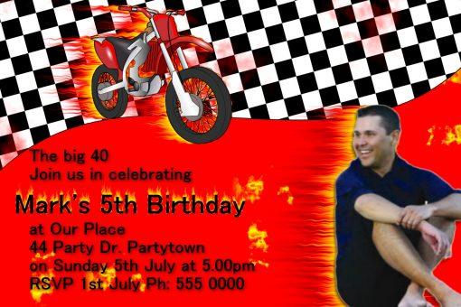 motorbike invitations