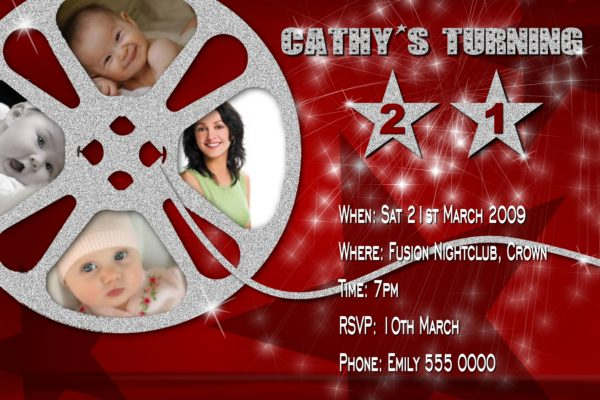 Movie Reel Invitations 02