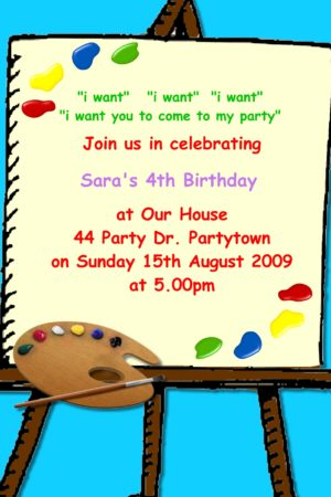 paint invitations