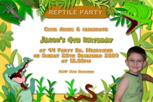 reptile invitations