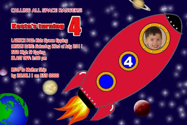 Rocket Invitations
