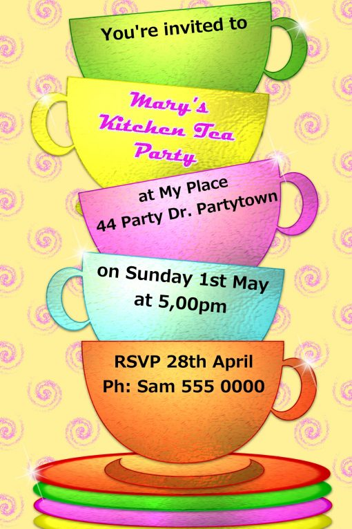 Tea Party Invitations