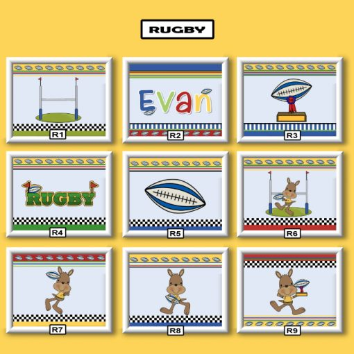 rugby wall art