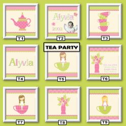 tea party wall art