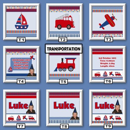transportation wall art