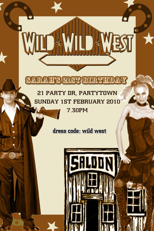 Wild West Invitations