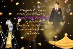 wizard invitations