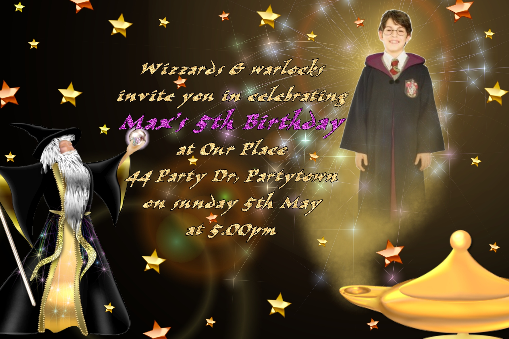 wizard invitations