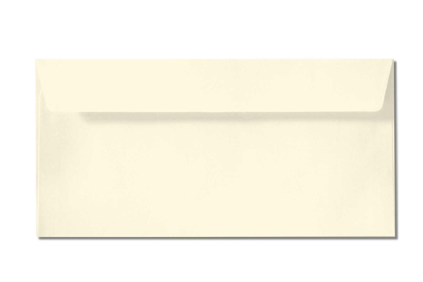 DL off white cream envelopes
